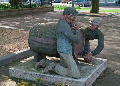 Stropielekkers Zaamslag standbeeld